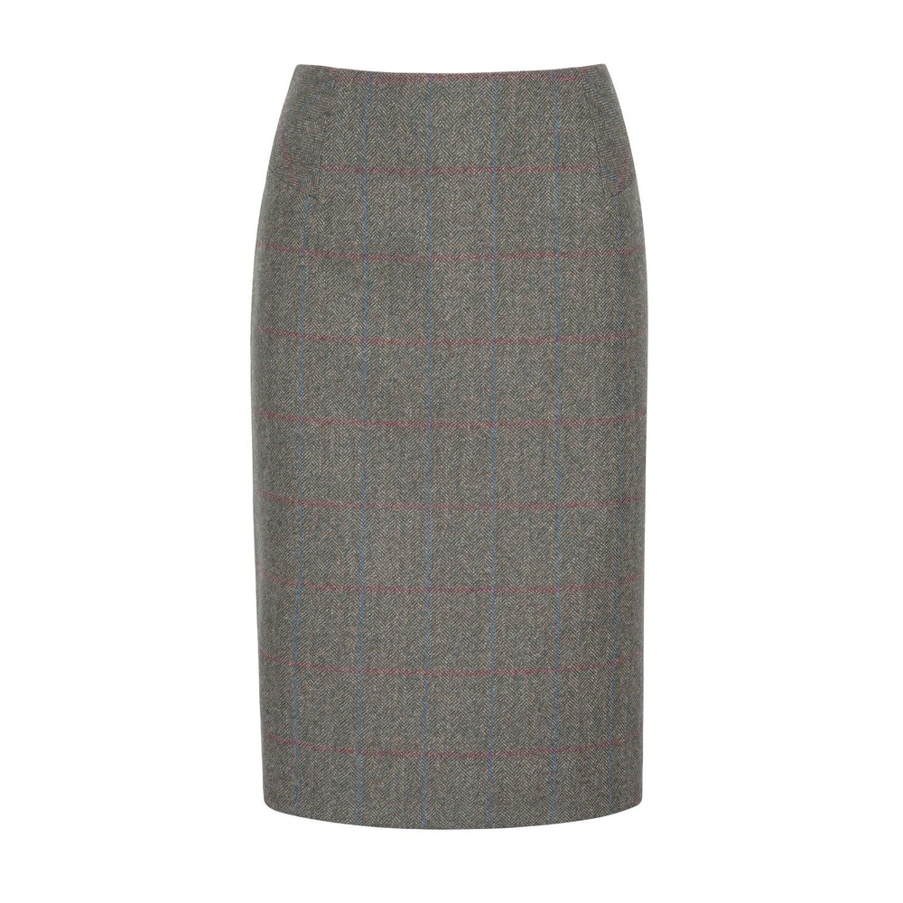 Dubarry Fern Tweed Pencil Skirt - Moss