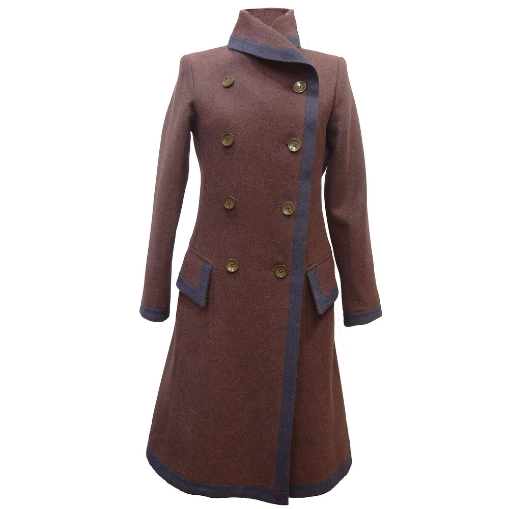 Beaver of Bolton Beaver of Bolton Daisy Coat - Claret and Navy