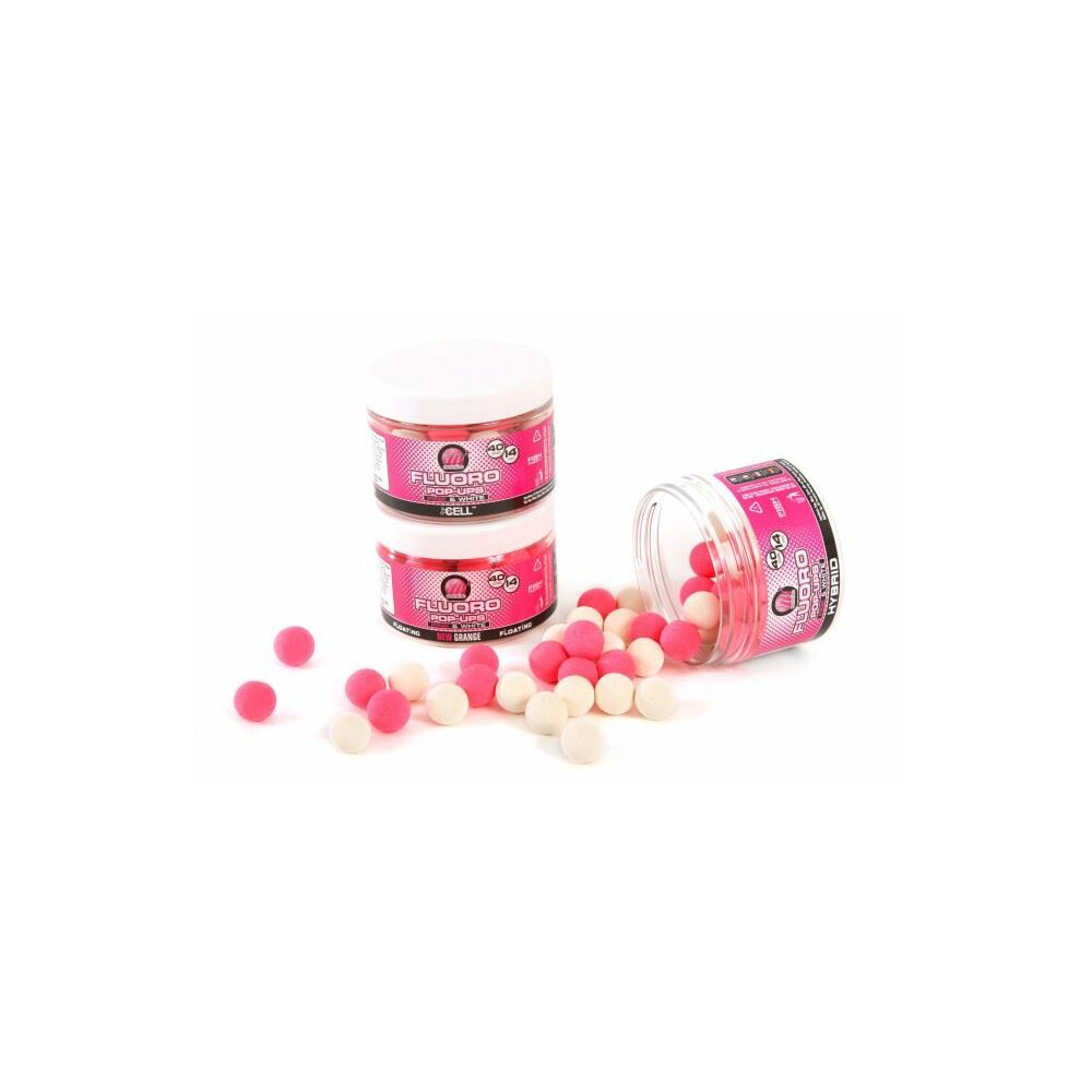 Mainline Baits Fluoro Pink & White Pop-Ups Pink