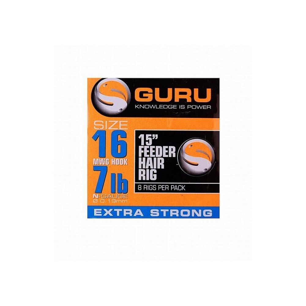 "Guru Feeder Hair Rigs - 15""12lb (0.22mm)"