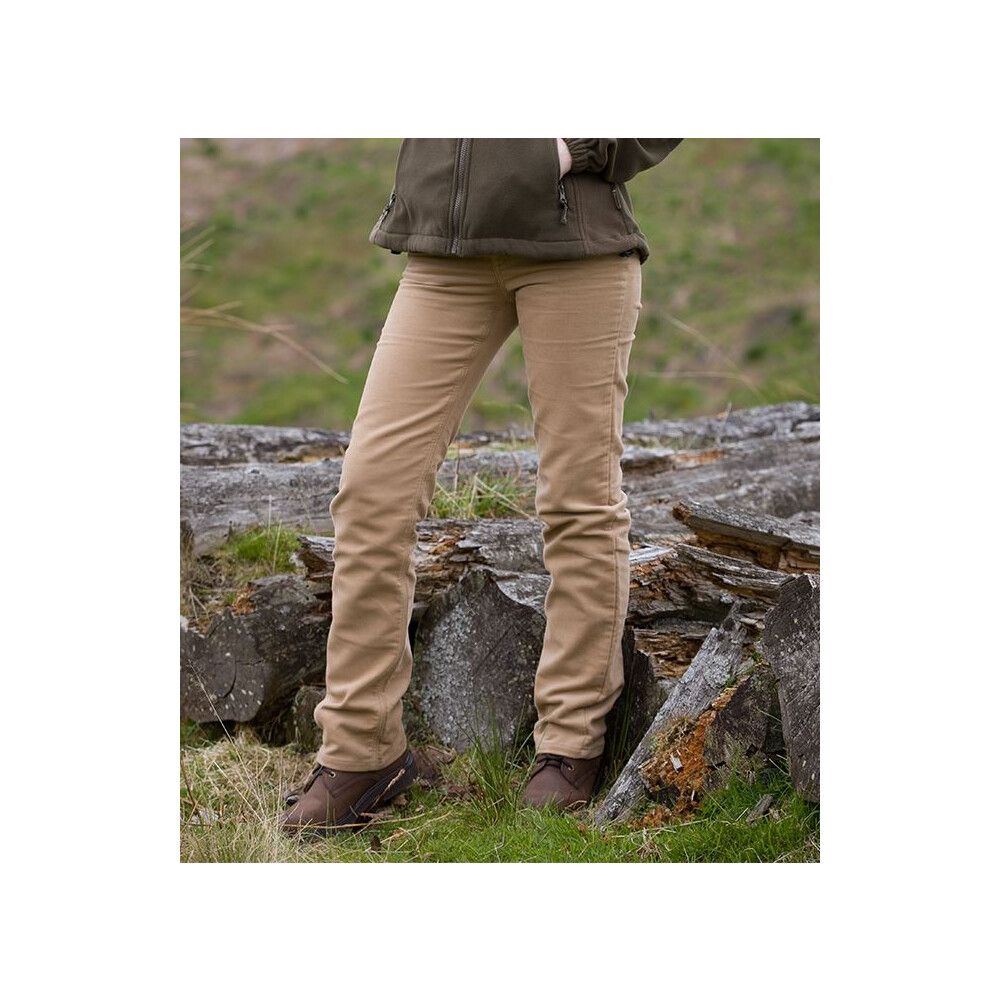 HOGGS OF FIFE Hoggs of Fife Ladies Moleskin Jeans - Stone Brown