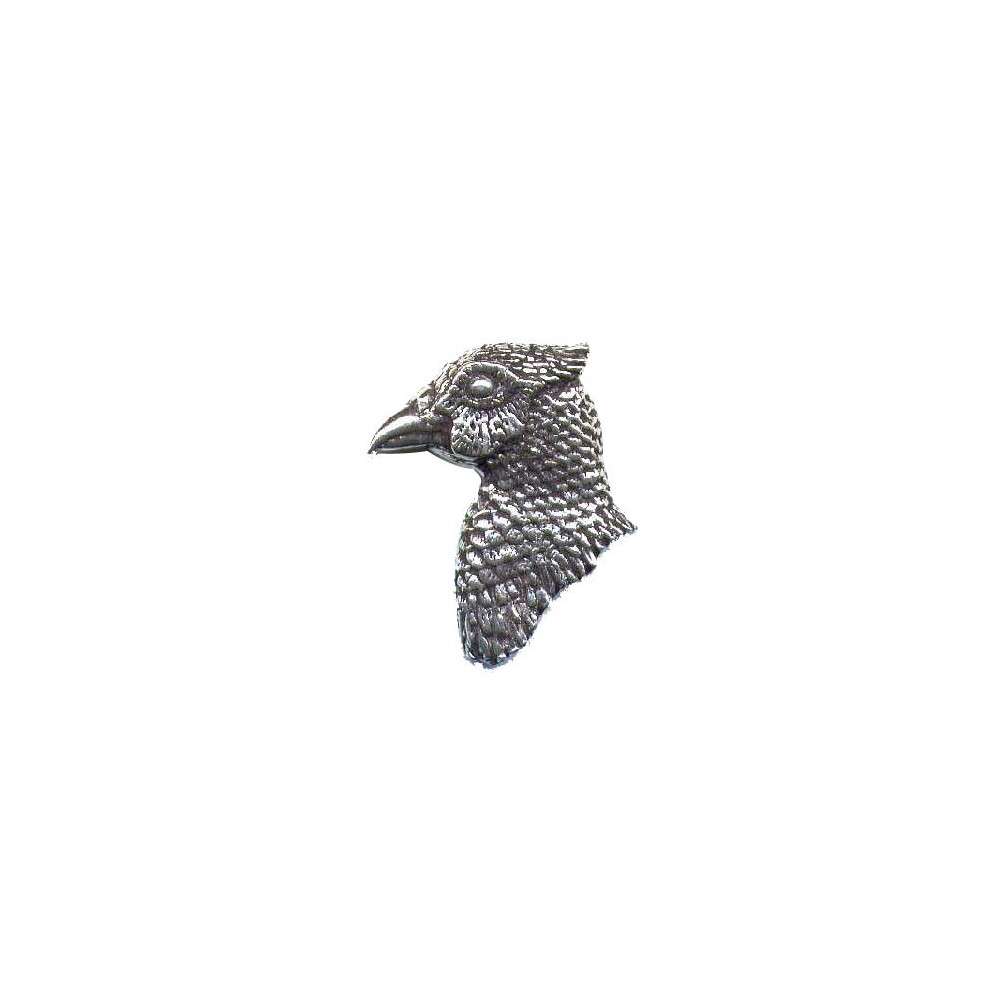 John Rothery Pewter Pin Badge - Pheasant Head