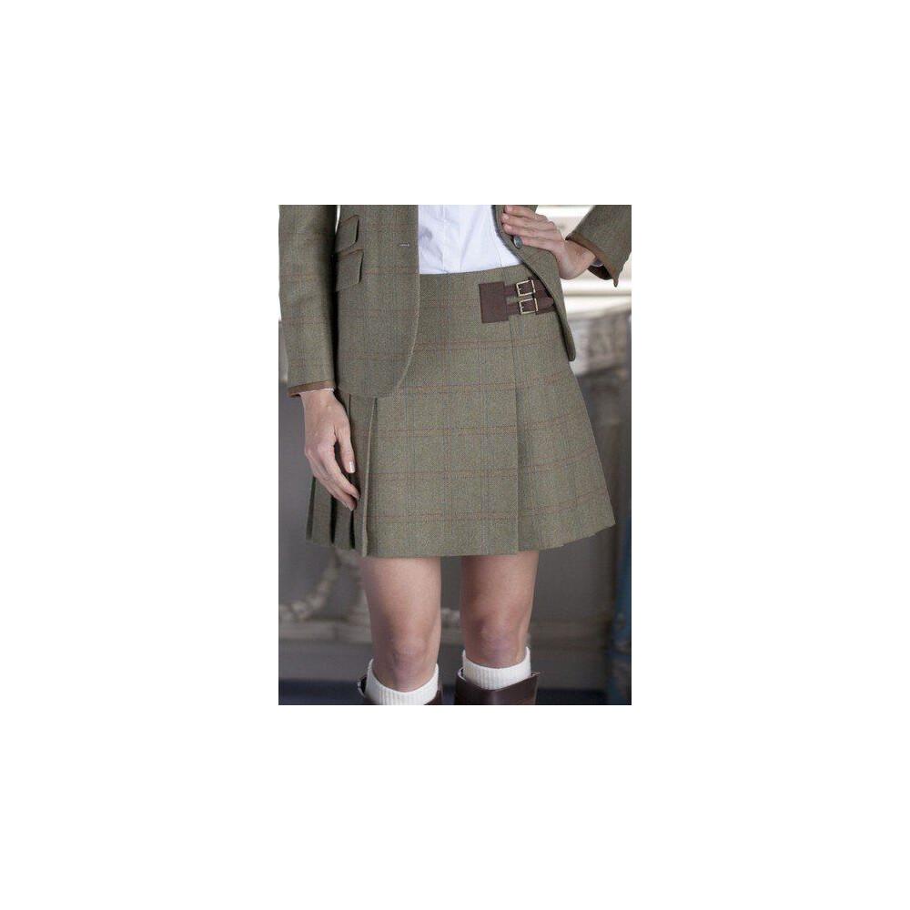 Dubarry Foxglove Pleated Tweed Skirt - Size 12 Acorn