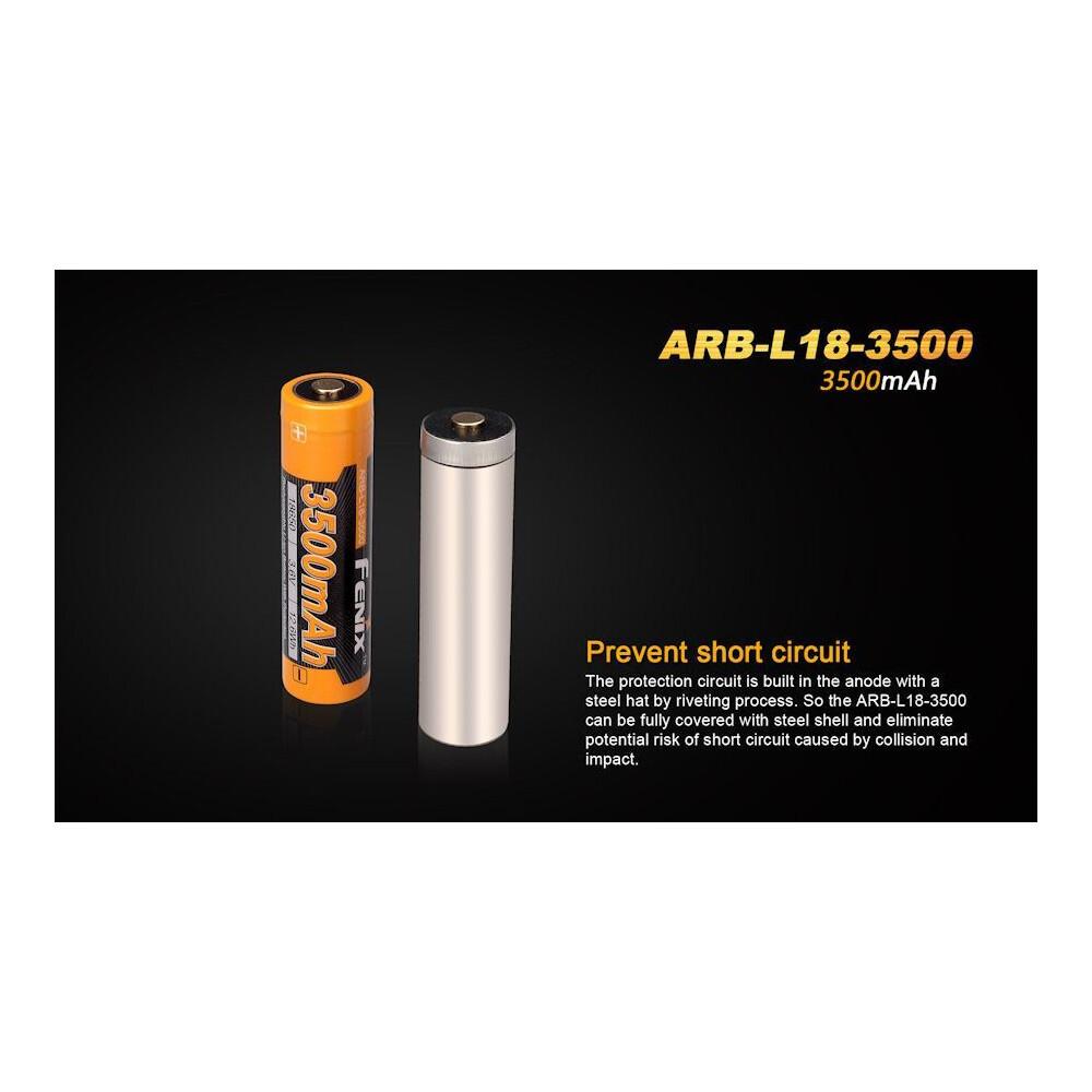 Fenix ARB-L18-3500 18650 Battery Orange