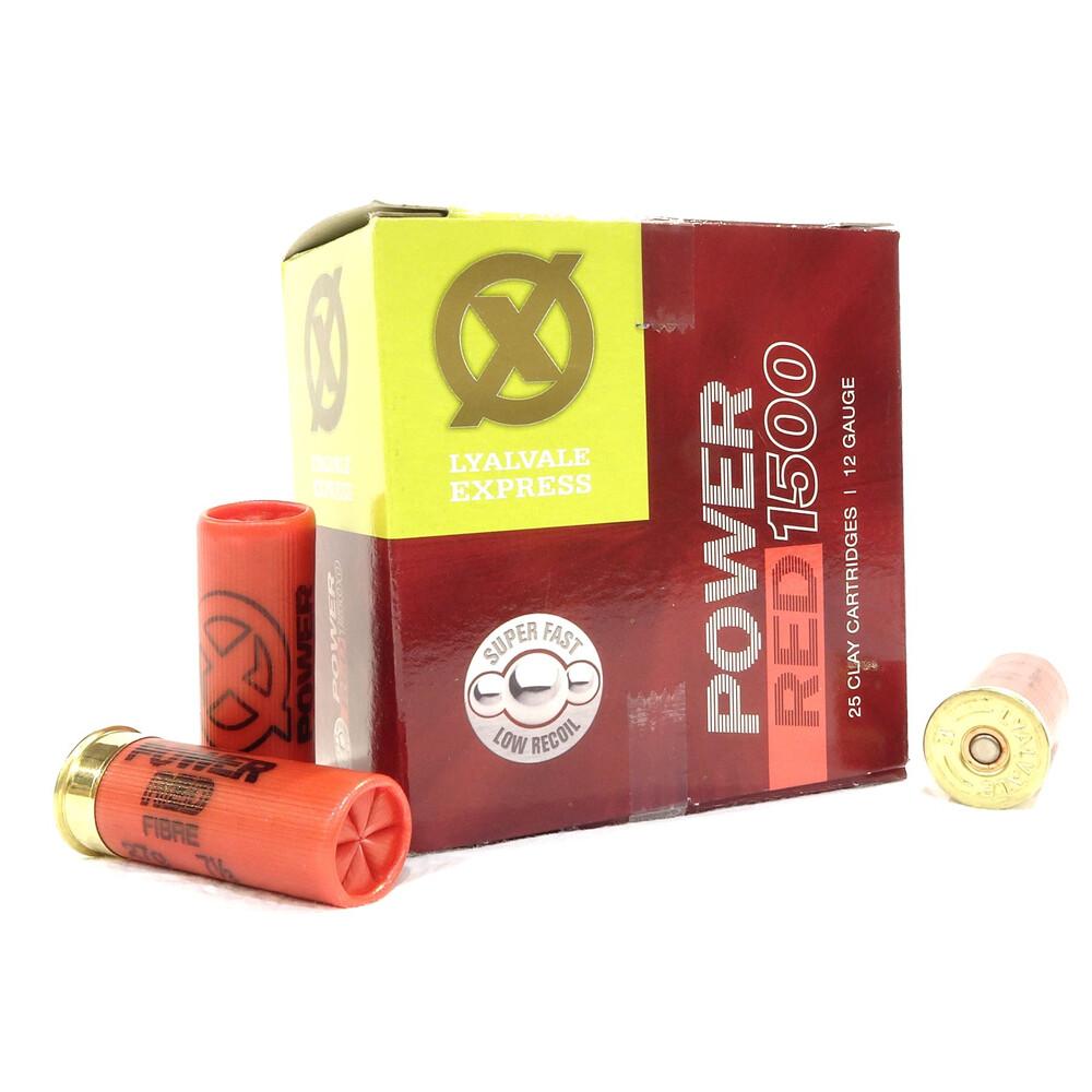 Lyalvale Express 12 Gauge - Power Red Shotgun Cartridges - 27gr - 7 1/2 Shot - Fibre