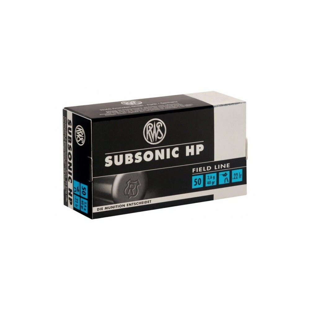 RWS .22LR Subsonic Hollow Point Ammunition