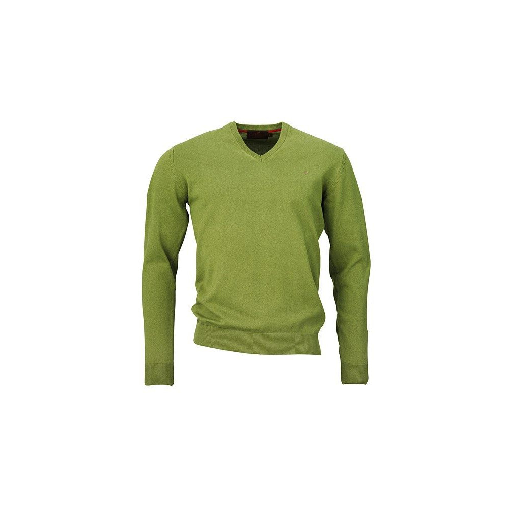 Laksen Spencer V-neck Jumper - Moorland