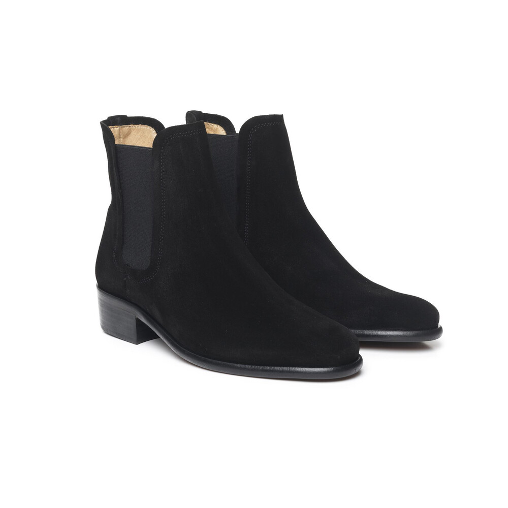 Fairfax & Favor Fairfax & Favor Ladies Chelsea Boot - Black - Leather Sole - UK 4 EU 37