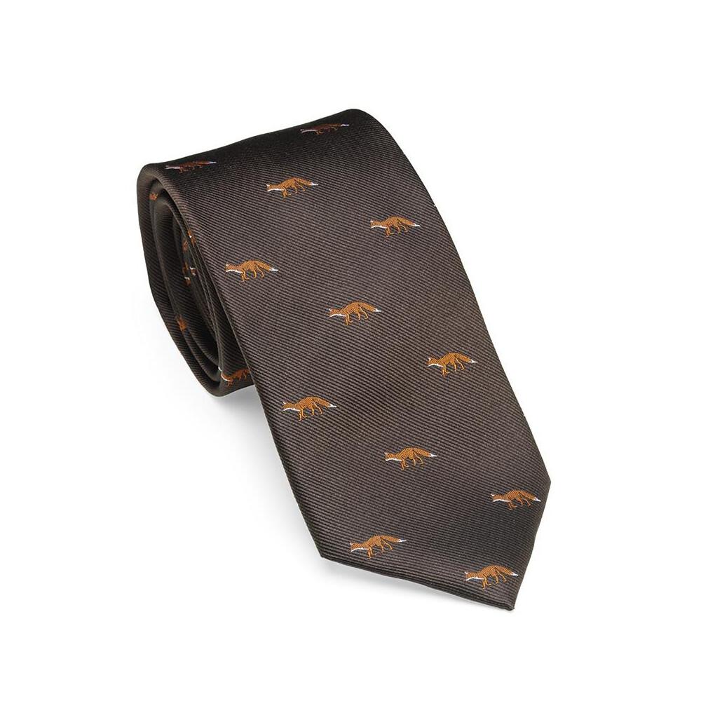 Laksen Laksen Fox Tie - Chocolate