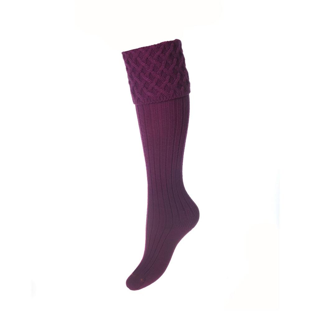 House of Cheviot Lady Rannoch Sock - Bilberry Bilberry