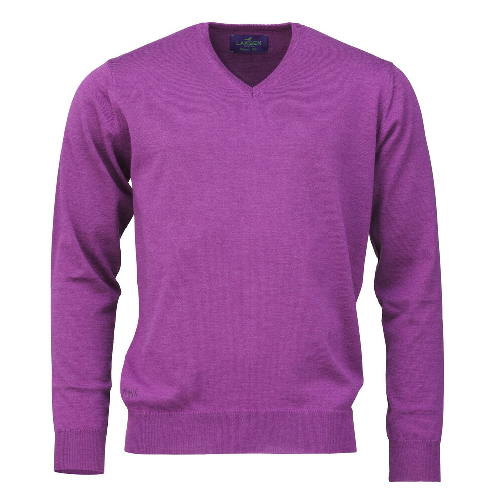 Laksen Glorious 12th V Neck Sweater Purple