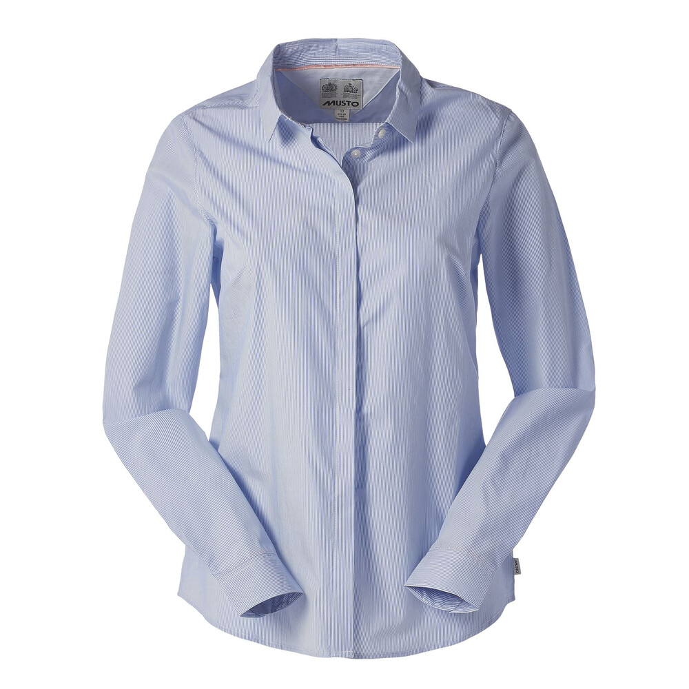 Musto Musto Juliette Stripe Shirt - Light Blue and White