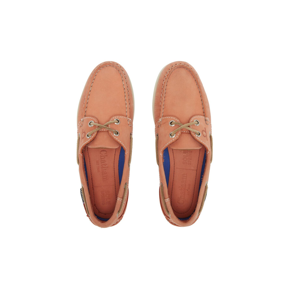 Chatham Pippa II G2 Leather Boat Shoe - Coral Coral