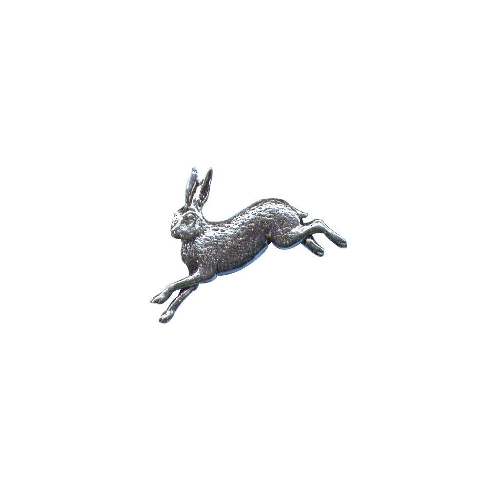 John Rothery Pewter Pin Badge - Hare Unknown