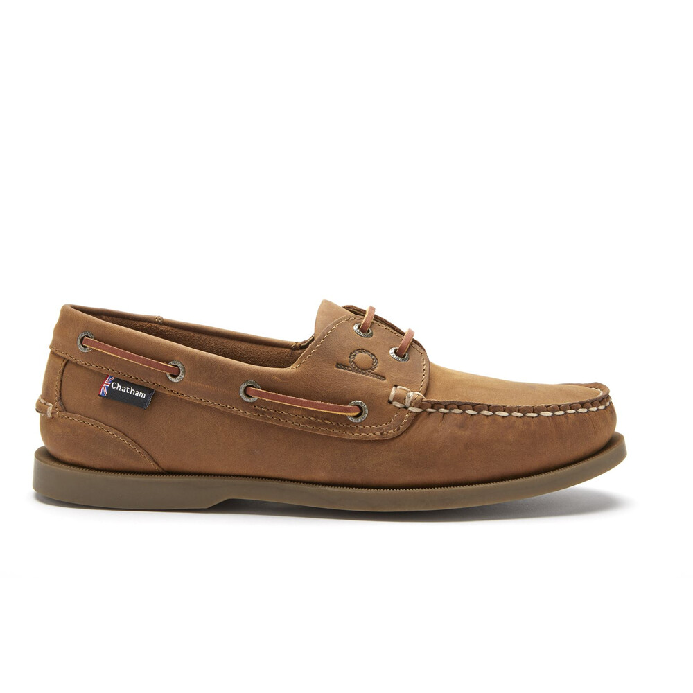 Chatham Deck II G2 Leather Boat Shoe Walnut