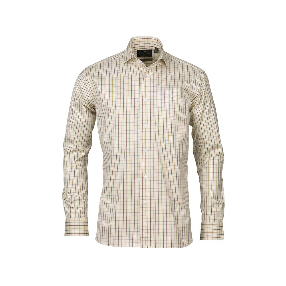 Laksen Laksen Lucien Shirt - Bordeaux/Navy/Gorse