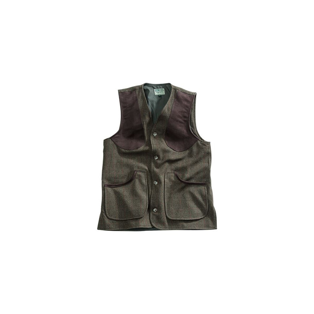Hoggs Of Fife Hoggs of Fife Harewood Lambswool Tweed Shooting Vest - Dark