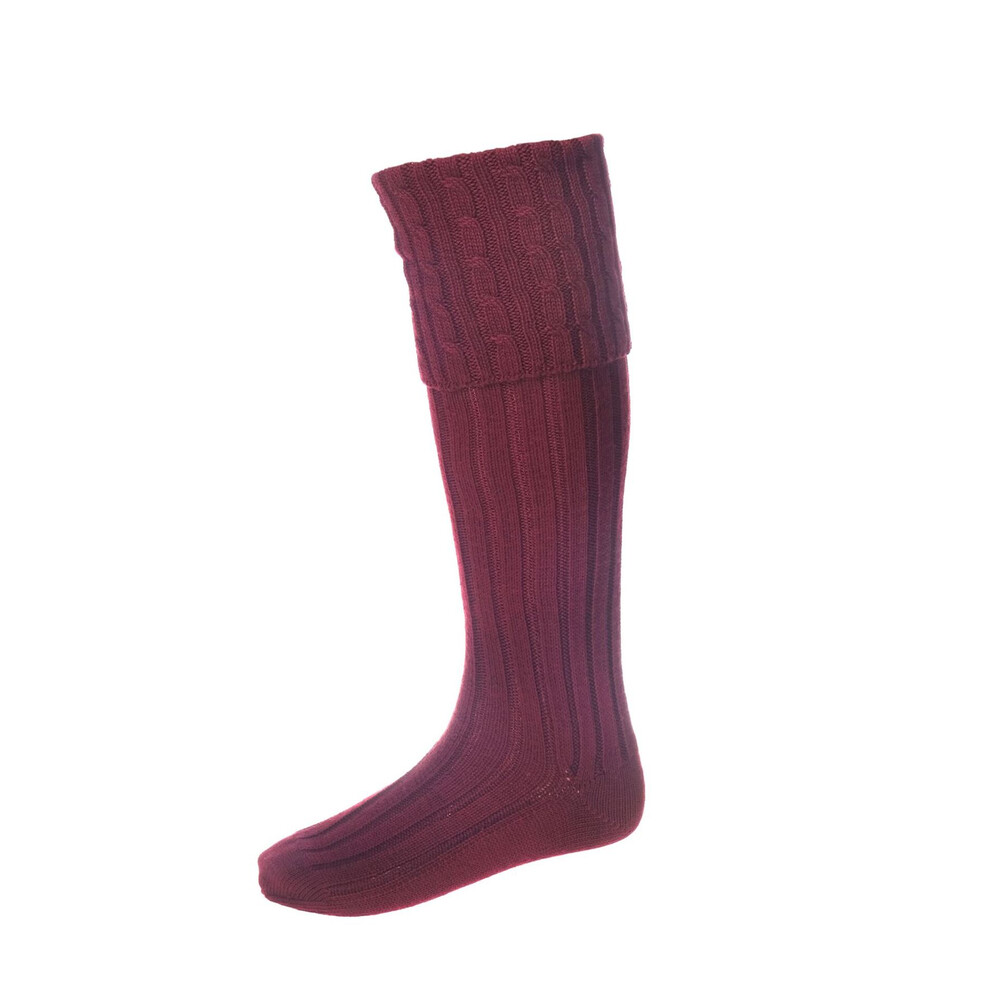 House of Cheviot House of Cheviot Harris Sock - Burgundy