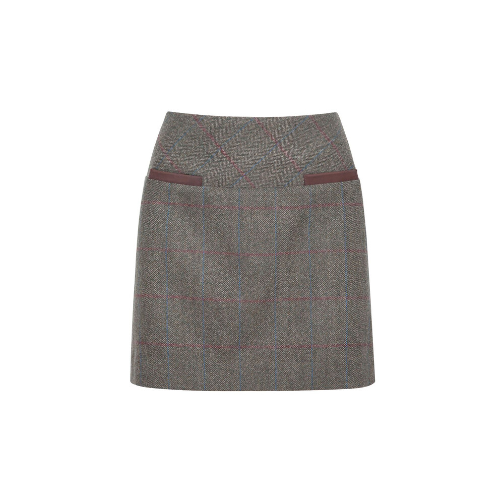 Dubarry Clover Tweed Mini Skirt - Moss - Size 16