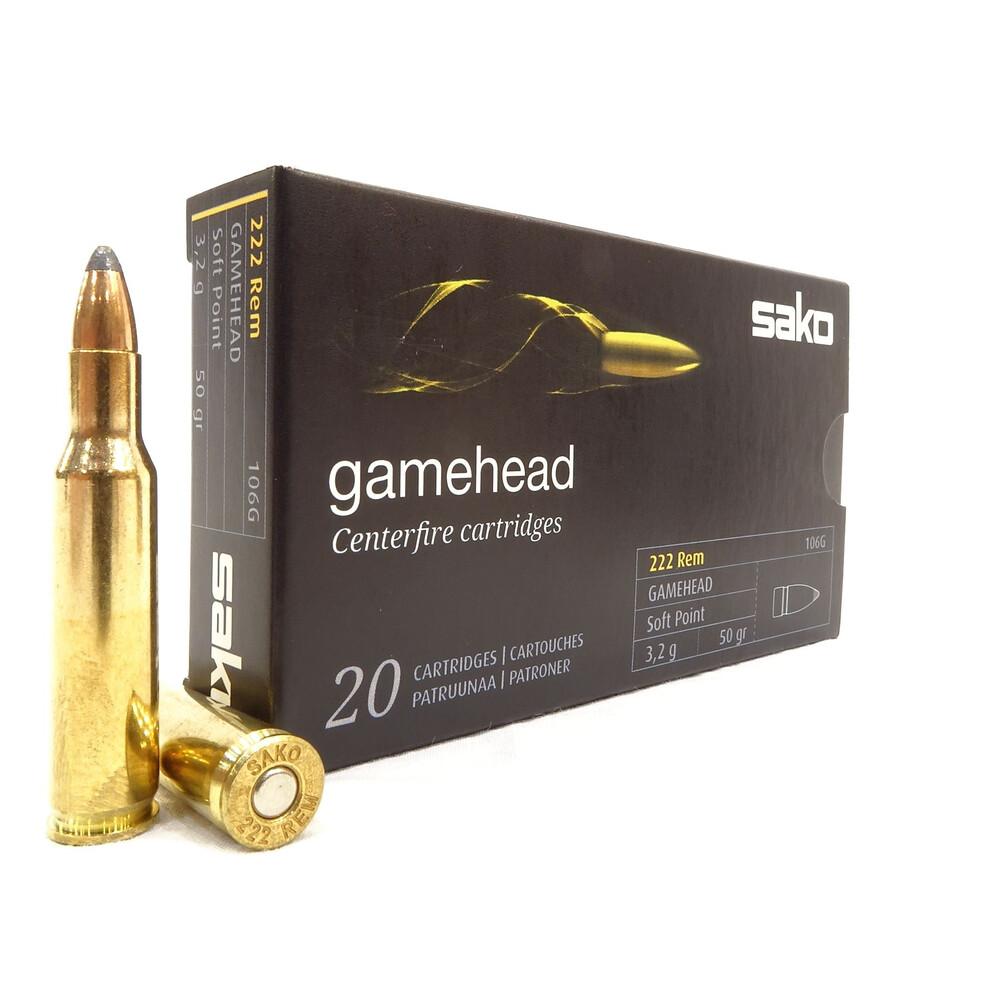 Sako .222 Ammunition - 50gr Gamehead