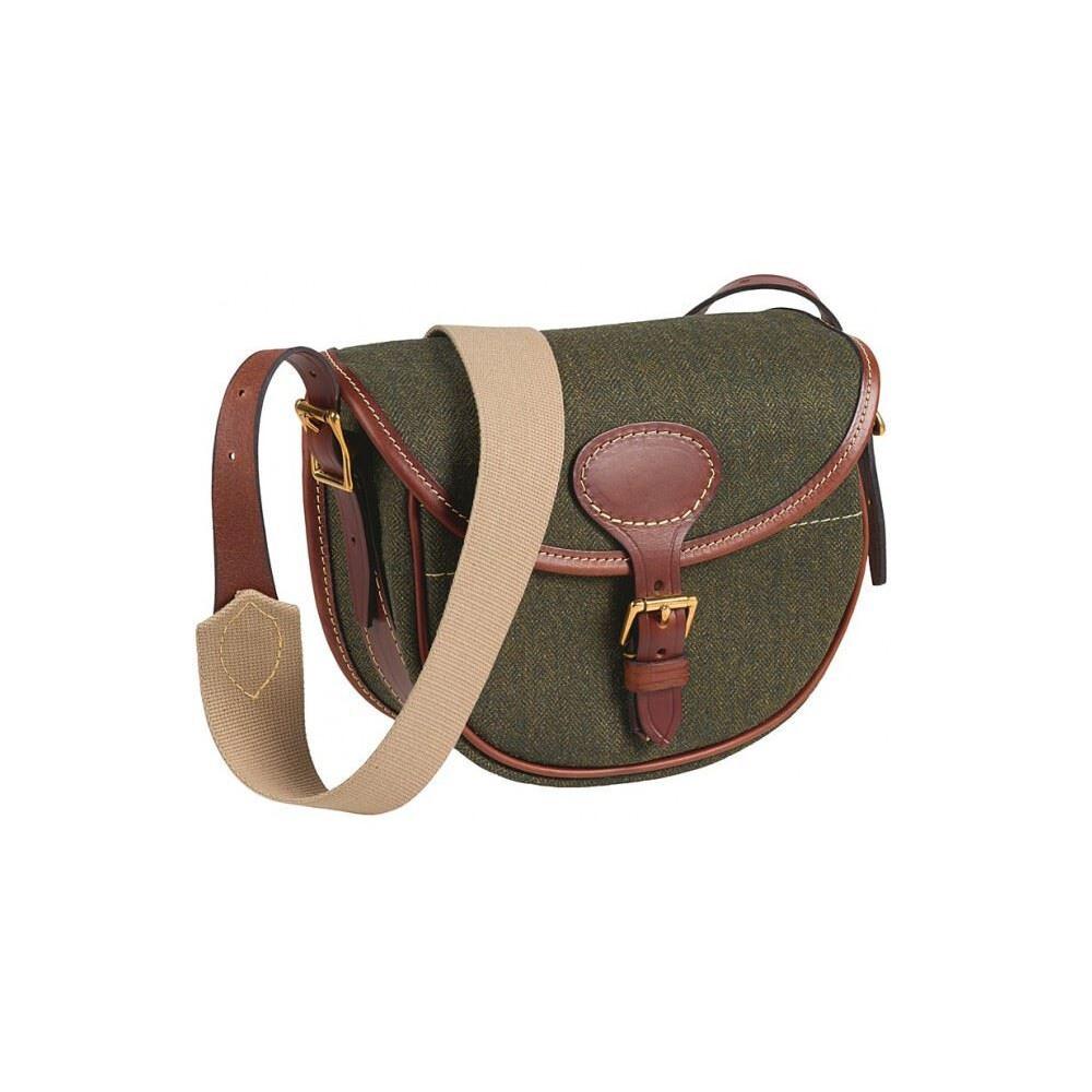 Musto Tweed & Leather Cartridge Bag Green
