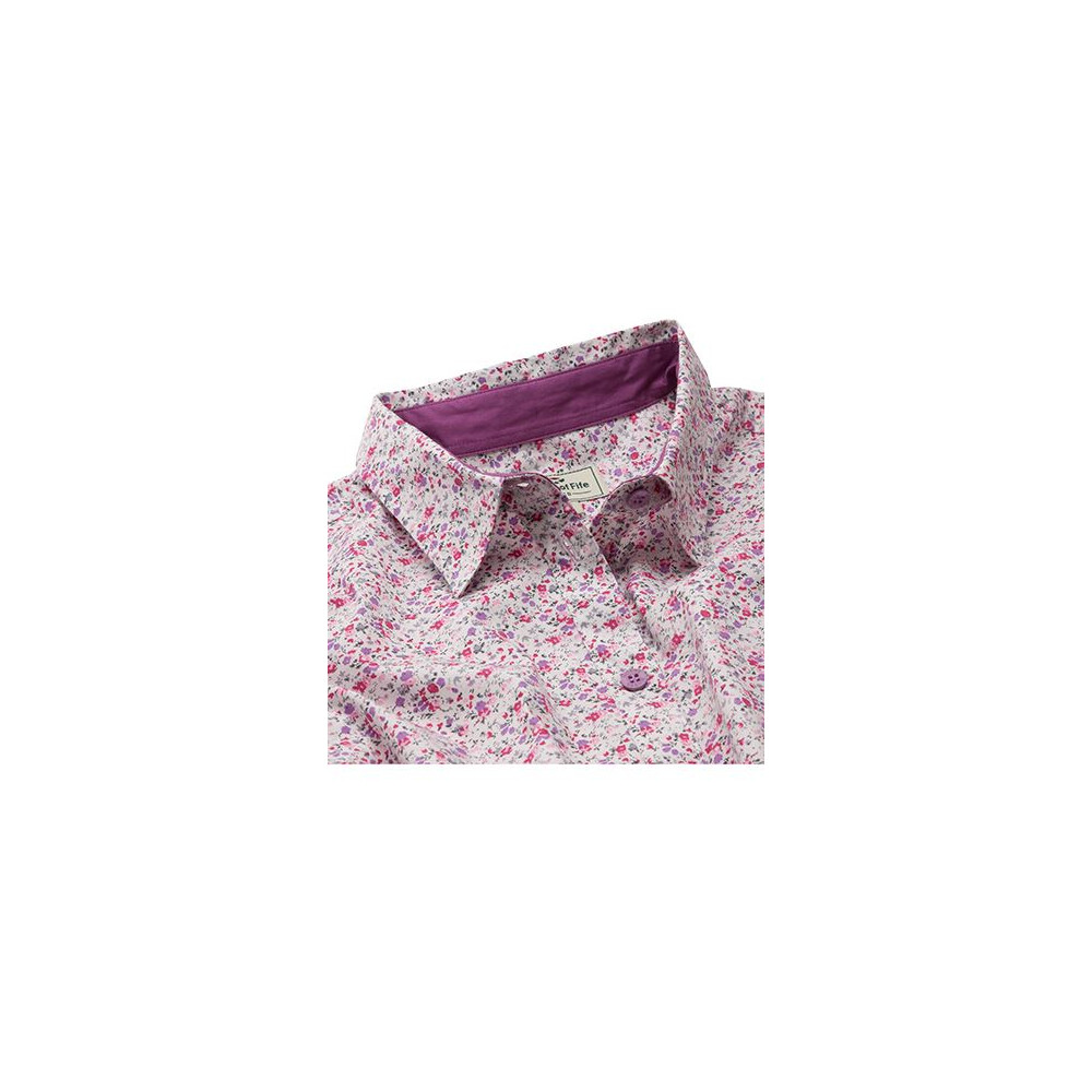 HOGGS OF FIFE Hoggs of Fife Bella Ladies Floral Shirt - Pink Floral in Pink Floral