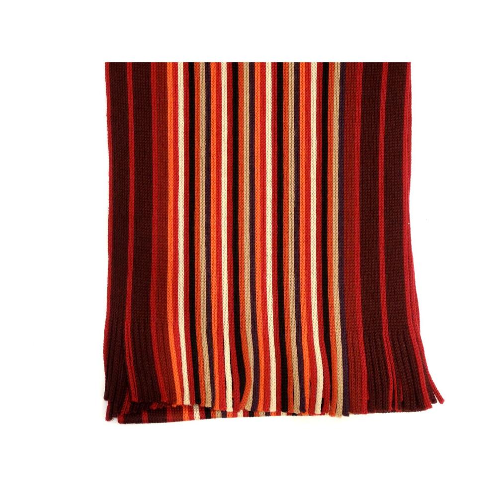 Hugo Spiecker Mens 100% Wool Scarf - Red/Orange