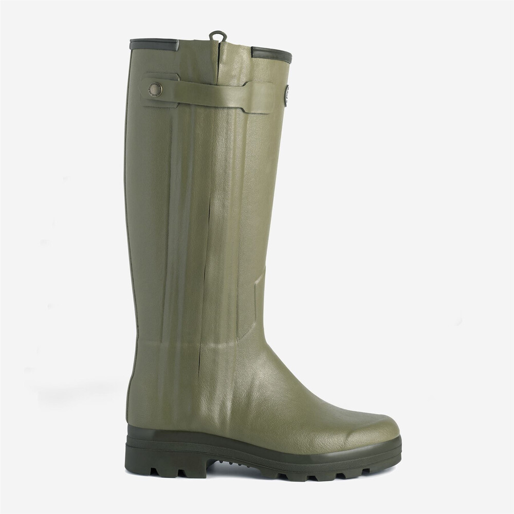 Le Chameau Chasseur Leather Lined Women's Wellington Boots Vert Vierzon