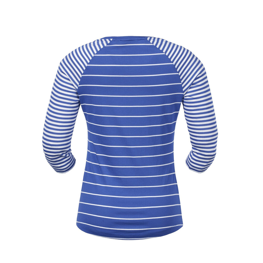 Musto Lucia 3/4 Sleeved Stripe Top Blue/White