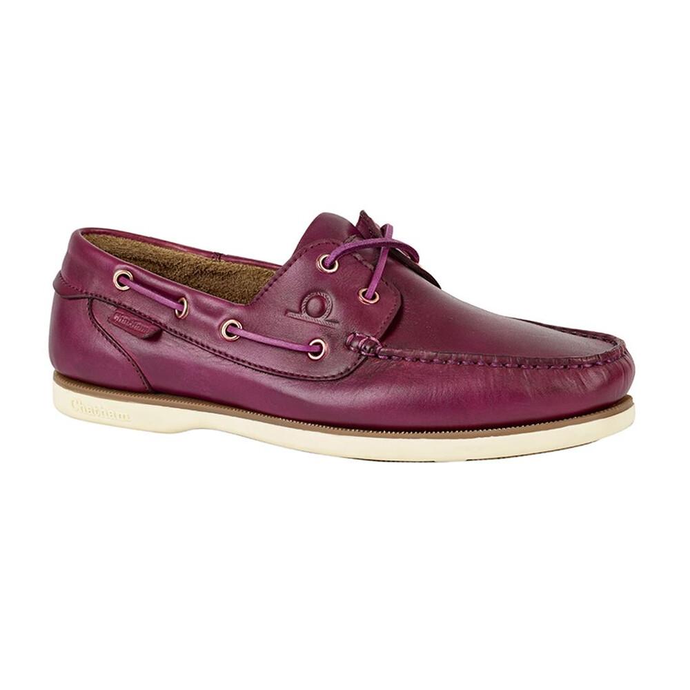 Chatham Newton Boat Shoe Violet