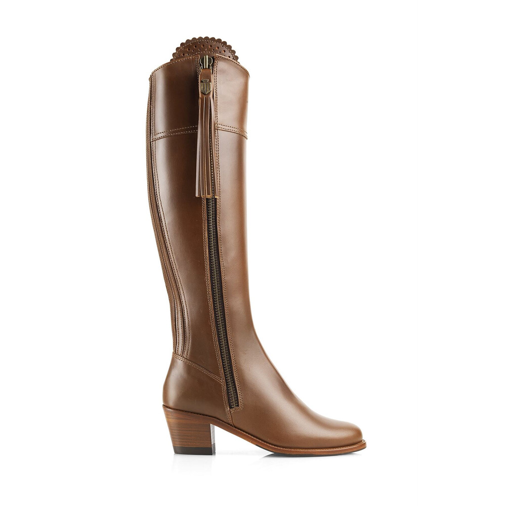 Fairfax & Favor Heeled Regina Leather Boot - Tan Tan