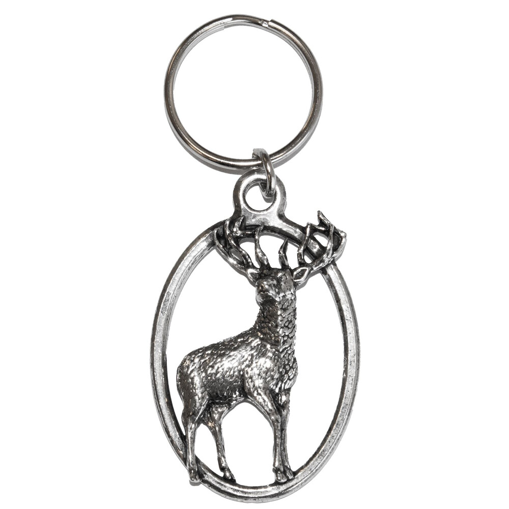 John Rothery Pewter Keyring - Stag