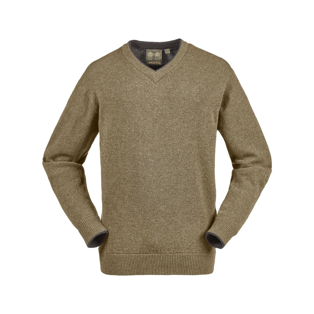 Musto Shooting V-Neck Knit - Grouse