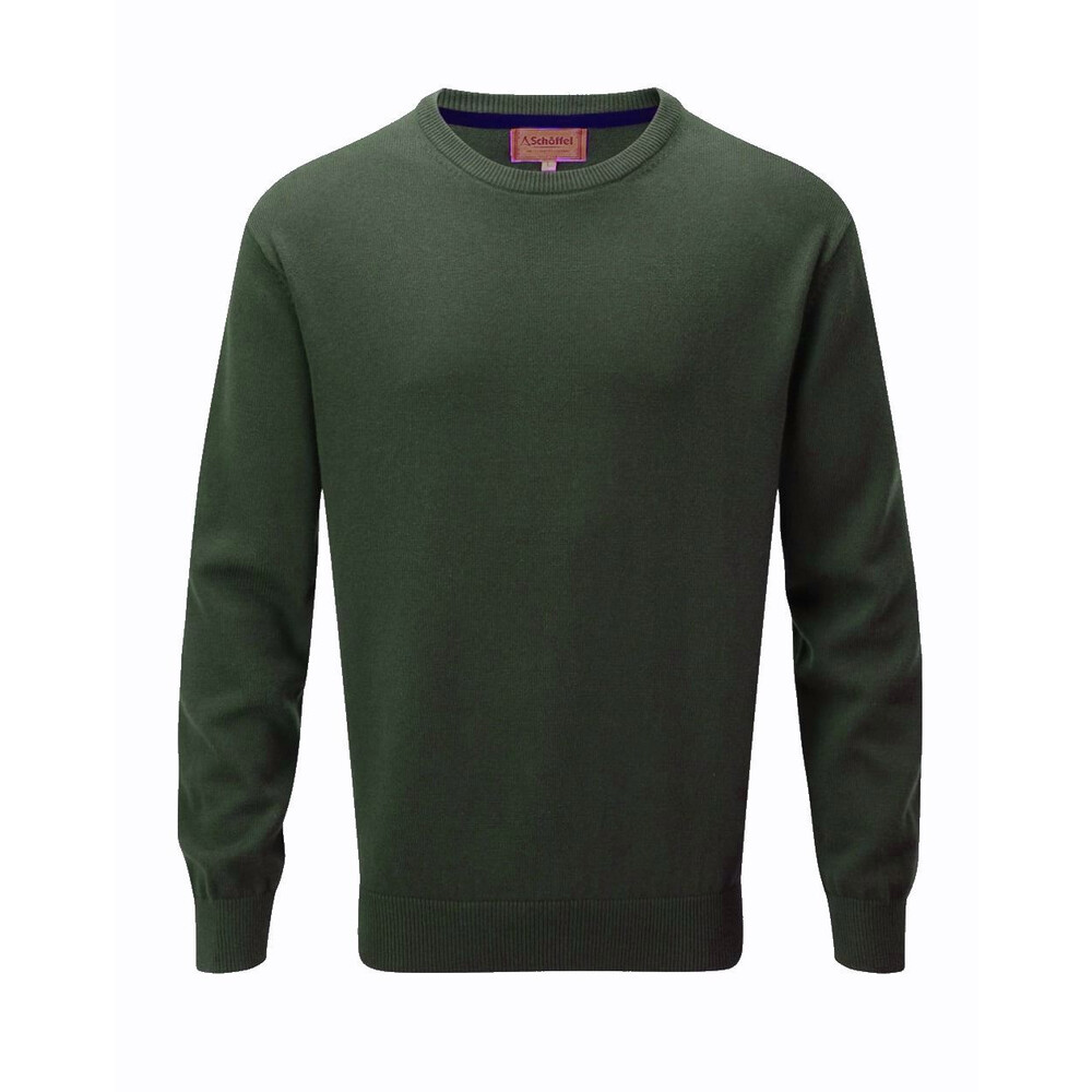 Schoffel Cotton Cashmere Crew Neck Jumper