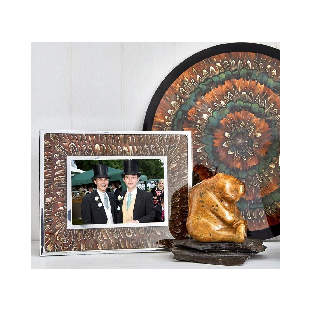 Wingfield Digby Photo Frame - Cock Pheasant Feather - 5 x 7