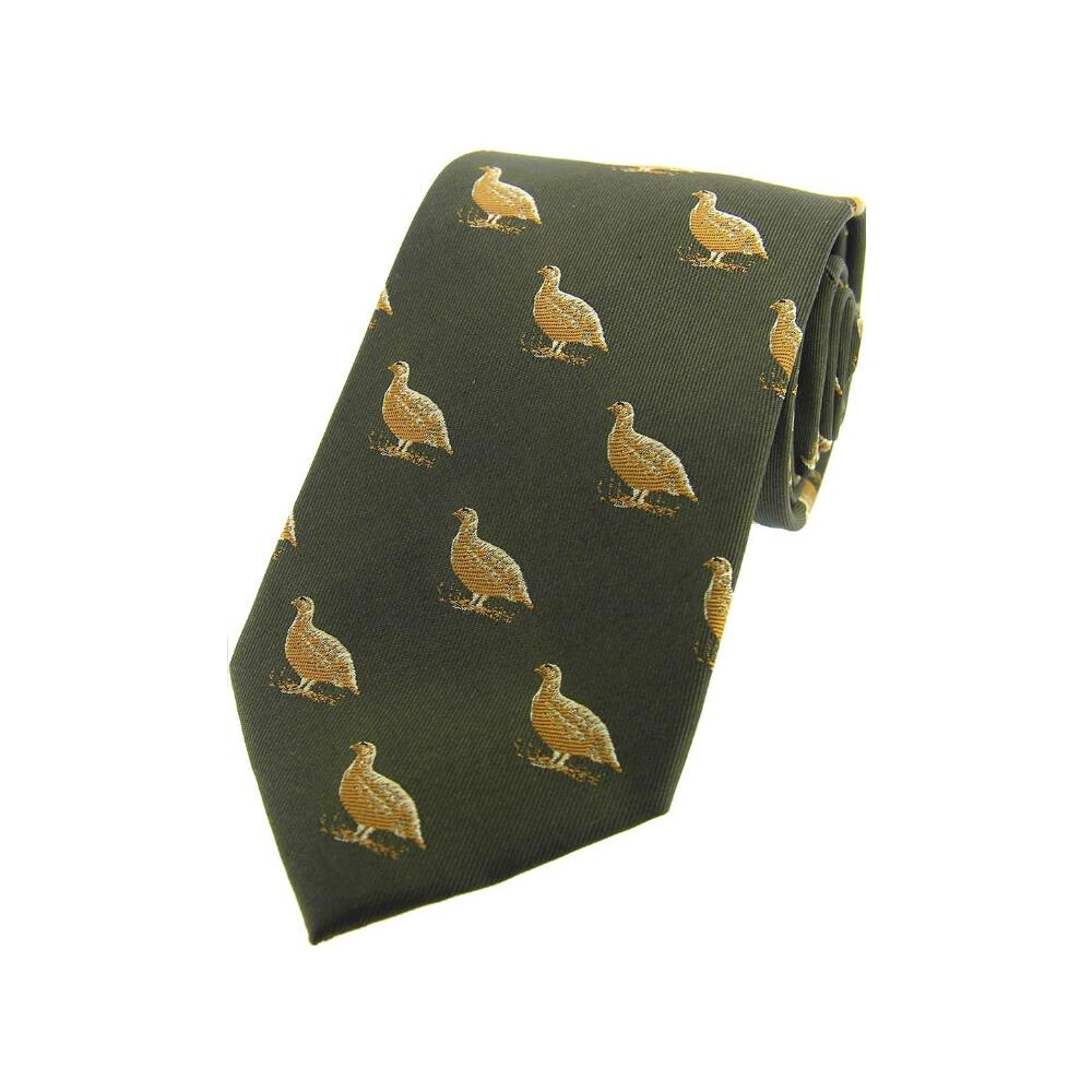 Soprano Country Silk Tie - Grouse - Country Green