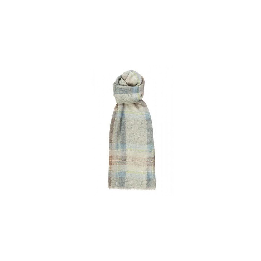 Murray Hogarth Hogarth Watercolour Tartan Modal / Cashmere Scarf - Muted Blue Dress Stewart