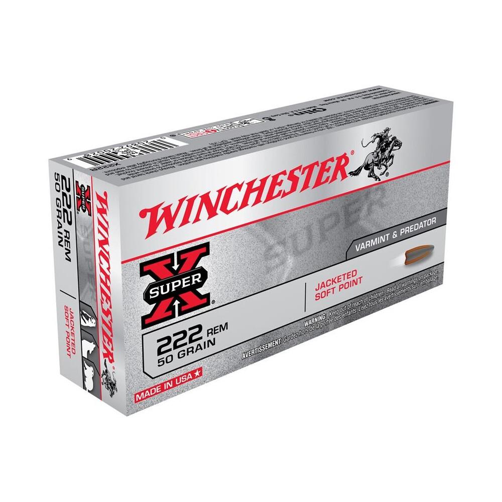 Winchester .222 Ammunition - 50gr - Super-X JSP