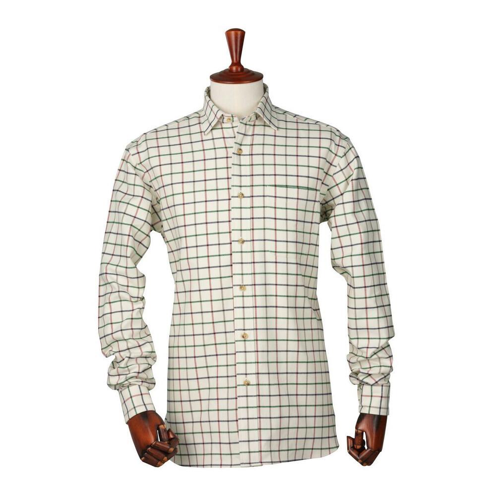 Laksen Laksen Richard Tattersal Shirt - Camel/Navy/Red