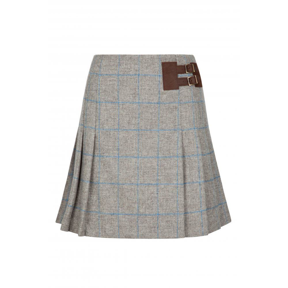 Dubarry Foxglove Pleated Tweed Skirt - Shale