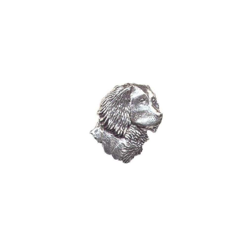 John Rothery Pewter Pin Badge - Spaniel Head