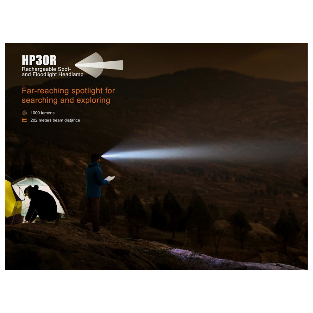 Fenix HP30R Rechargeable Headlamp Black