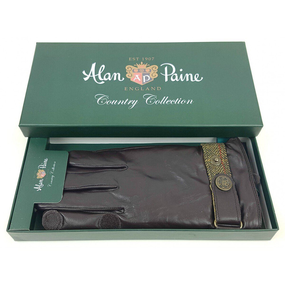 Alan Paine Mens Water Resistant Leather Gloves Peat