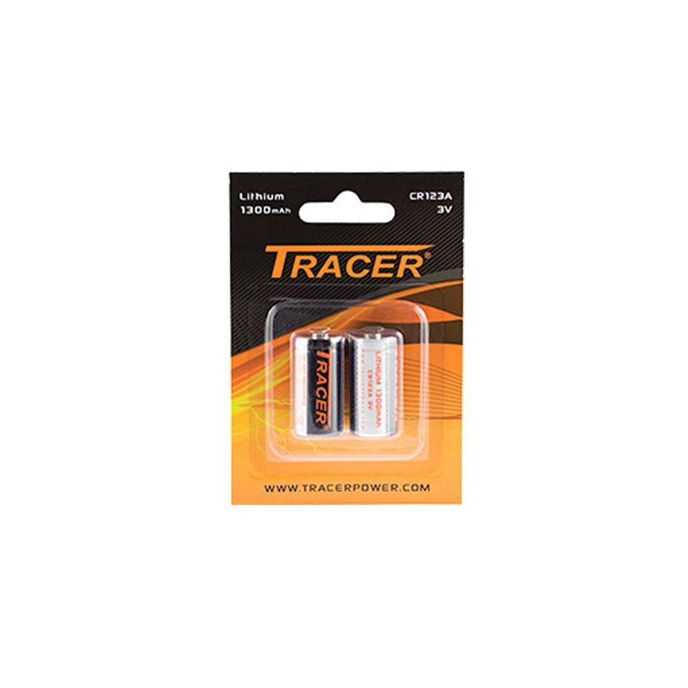 Tracer Panasonic CR123A Batteries - Twin Pack
