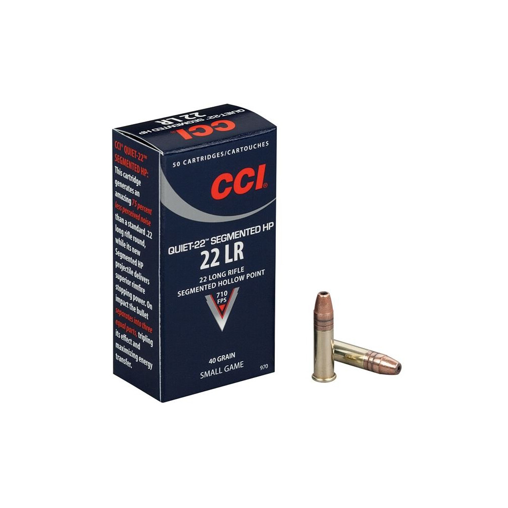 CCI .22LR Ammunition - 40gr - Quiet Segmented HP