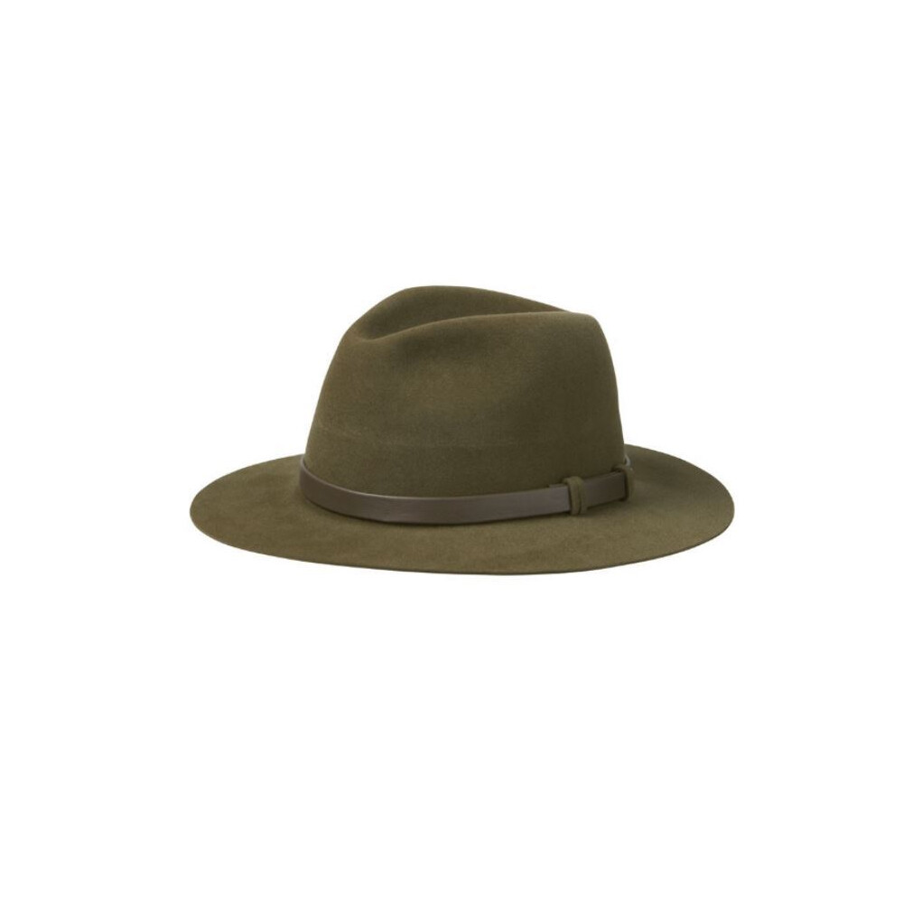 Olney Antelope Velour Wide Hat Green