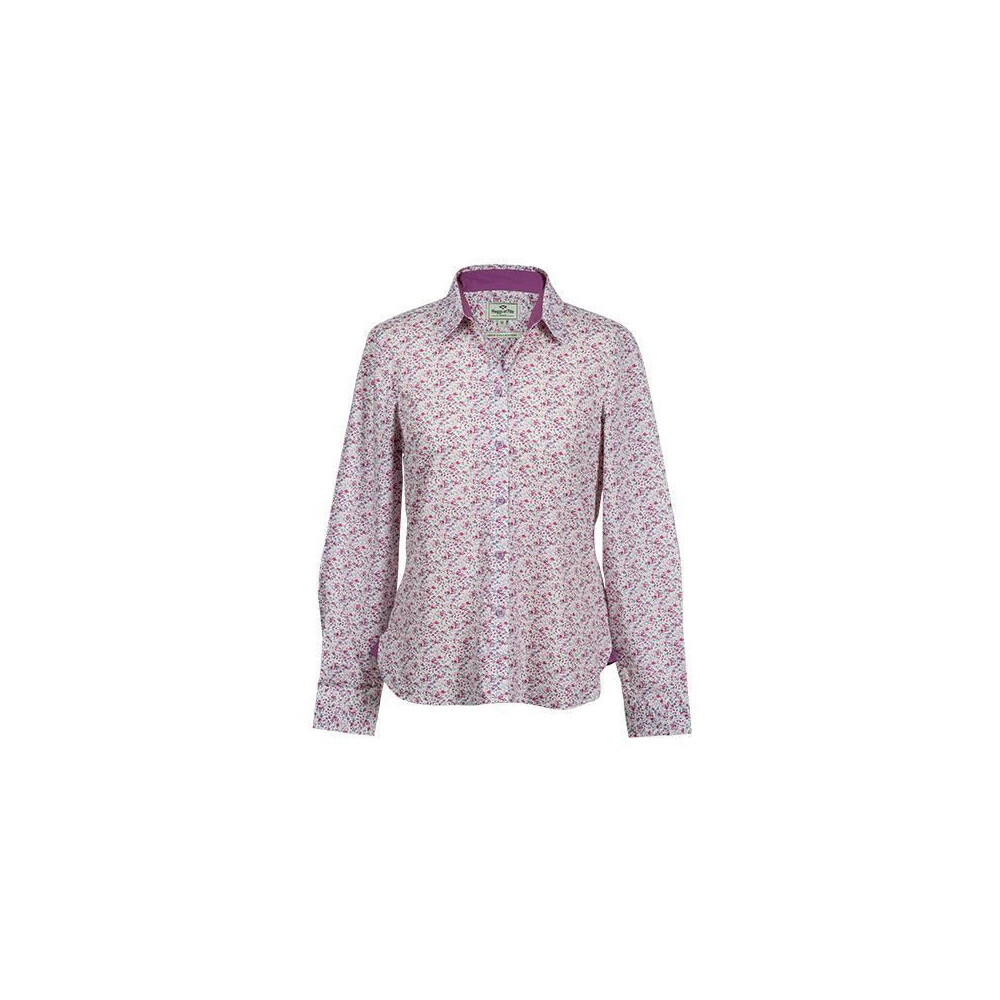 Hoggs Of Fife Hoggs of Fife Bella Ladies Floral Shirt - Pink Floral