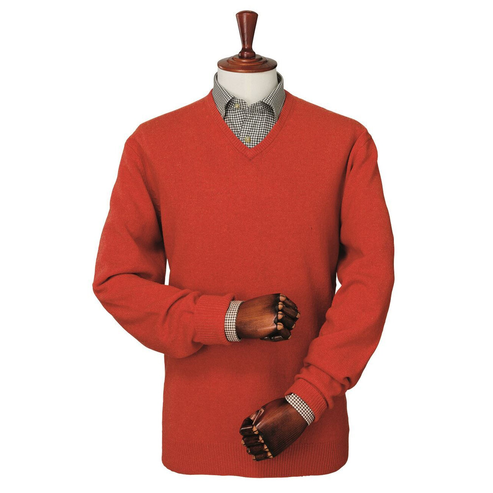 Laksen Mulliner V-Neck Jumper - Orange