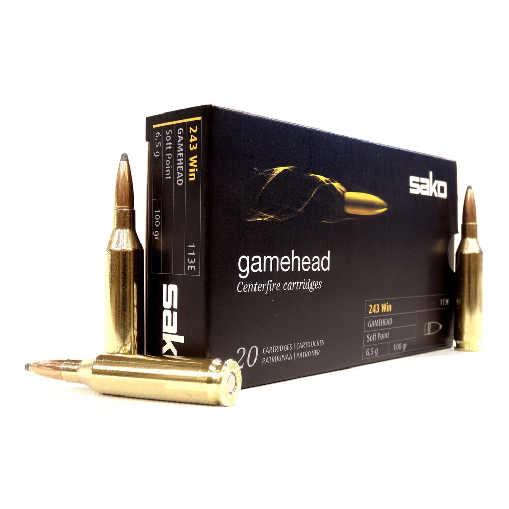 Sako .243 Ammunition - 100gr - Gamehead
