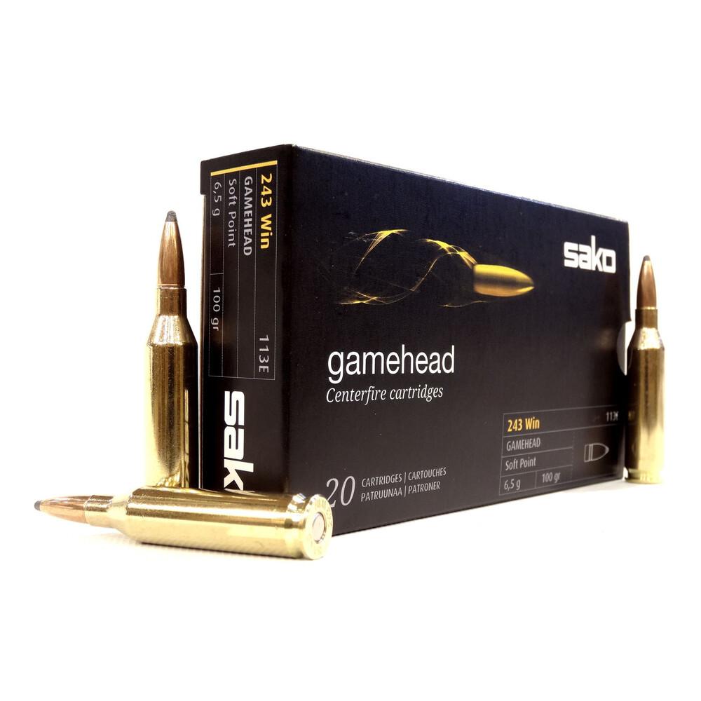 Sako .243 Ammunition - 100gr Gamehead Unknown